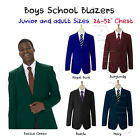 (Free P&P) Boys School Blazer Jacket Uniform Black Bottle Green Maroon Navy