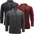 Mens Jumpers Tokyo Laundry Knitted Cardigan / Thick Winter Cable Stitch Knitwear