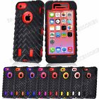 Heavy Duty Tyre Armour Shock Proof Builders Case Cover For iPhone 5C & 4S / 4