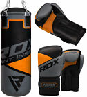 RDX Heavy Kids Set 2FT Punching Bag Punch Youth Kick Boxing Gloves Unfilled