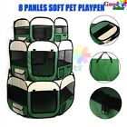 8 Panels Soft Pet Dog Playpen Puppy Exercise Play Pen Fence Enclosure Cage Tent