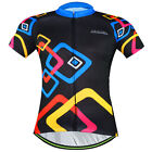 Square Rings Men's Short Sleeve Cycling Jerseys Sportwear Bike Bicycle Jackets