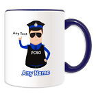 Personalised Gift Police Community Support Officer Mug Money Box Blue PCSO Cup