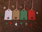 20 NORDIC CHRISTMAS TREE SNOW HEART GIFT TAGS VINTAGE LUGGAGE LABELS GIFT TWINE