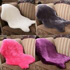 Plain Soft Fluffy Bedroom Faux Fur Fake Single Sheepskin Rugs Washable Hairy Mat