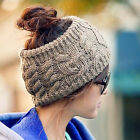 NEW Fashion Women Winter Warm Knit Wool Beret Hat Beanie Braided Crochet Ski Cap