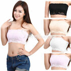 Sexy Lace Ladies Womens Strapless NO-PAD Boob Tube Top Bandeau Bra Breast Cup