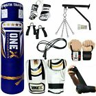15 Piece Boxing Set 3/4/5ft Filled Heavy Punch Bag Gloves,Chains,Bracket,Kick