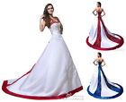Two Color Honorable Exquisite Wedding Dress Bridal Gown Size 6 8 10 12 14 16