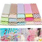 25x STRIPED PAPER DRINKING STRAWS-RAINBOW MIXED FOR Wedding Party hot sale