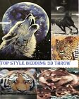 3D Animal Print Mink Faux Fur Throw Effected Bed Sofa Couch Fleece Blanket