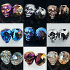 16mm Multi-Color Faceted Crystal Quartz  Skull 6pcs