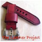 Handmade Red Vintage Watch Strap Band PAM or big watch.