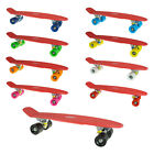 22or27 Vintage  Retro Cruier Skateboard Red Deck Multicolored Wheels
