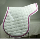 2pcs NEW Quilted Cotton Saddle Pad  Horse Basic Numnah Multiple Options