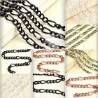 2m 6.56 feet DIY Unfinished Iron Curb Chains Antique Copper Brass Silver Black