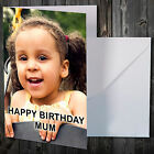 PERSONALISED PHOTO BIRTHDAY GREETINGS CARD FOR MUM MUMMY HER ANY TEXT PICTURE
