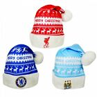 Official Football Team Nordic Santa Hat - Chelsea Liverpool City NEW GIFTS XMAS