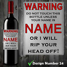 PERSONALISED FUNNY WINE BOTTLE LABEL BIRTHDAY CHRISTMAS ALL OCCASIONS GIFT