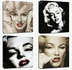 """4x Canvas Marilyn Monroe Stretched Wood Abstract Modern Art Wall Frame 12 24"""""""