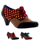 Womens Poetic Licence End Of Story Mid Heel Lace Up Vintage Shoe Boots UK 3.5-8