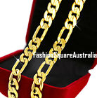 Genuine 18K 18CT GOLD GF Multy Width FLAT CURB CHAIN Solid Womens Men's NECKLACE