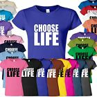 Womens Ladies Girls Fitted T-shirt Sweat shirt Top Choose Life T Shirt S M L XL