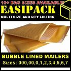 ECONOMY BUBBLE LINED ENVELOPES MAILERS MAILING BAGS *ALL SIZES* - GOLD