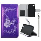 For iPhone 5C Flip Wallet PU Leather Folio Pounch ID Cards Pockets Case Cover