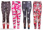 Womens Novelty Christmas Warm Comfortable Strechable Soft Legging Trousers Pants