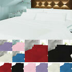 100%Cotton Brushed Flannelette Duvet/Quilt Cover Set With Pillow Cases All Sizes