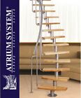MINI PLUS  Space Saver Spiral Loft Staircase Kit  Silver or Black Metal  Work