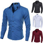 VSKA Men's Slim Fit Shirt Long Sleeve Formal Dress Shirts Casual Shirts Tops