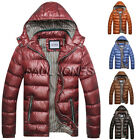 Winter men's down cotton hooded Outdoor jacket trench coat padded outwear parkas