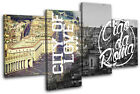 Rome Typography City MULTI CANVAS WALL ART Picture Print