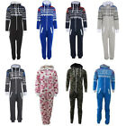 New Mens Womens Unisex Ladies Hooded All In One Piece Onesie Jumpsuit Playsuit