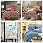 Long-Staple Cotton Duvet Quilt Doona Cover Set Queen Size Bed Covers Linen New