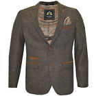 MENS MARC DARCY FORMAL SMART PAISLEY LINED TWEED BLAZER STYLE CARLTON - TAN