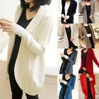 Graceful Ladies Women's Long Sleeve Knit Open Cardigans Top Jacket Jumper Modern