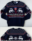 New Ralph Lauren Women Reindeer Nordic Knit Sweater M