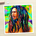 BOB MARLEY Reggae painting poster CANVAS ART PRINT (Rolled)