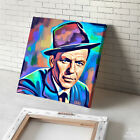 FRANK SINATRA portrait abstract painting CANVAS ART PRINT (MOUNTED)