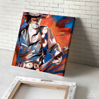 SRV Stevie Ray Vaughan guitar portrait CANVAS GICLEE PRINT (MOUNTED)