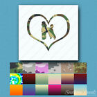 Love Poodle Dog Heart - Decal Sticker - Multiple Patterns & Sizes - ebn1500