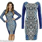 Womens Midi Dress Kardashian Leopard Print Bodycon Dresses Party Sexy Top Ladies