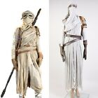 Star Wars VII The Force Awakens Daisy Ridley Rey Adult COSplay Costume Outfit $237.99 AUD