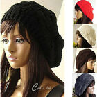 New Warm Winter Womens Knit Crochet Ski Hat Braided Baggy Beret Beanie Girl Cap