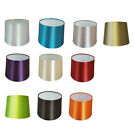 12 inch Empire Drum Pendant Ceiling Table Lamp Shade Bold Colours Satin Effect
