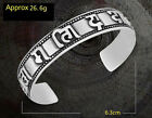 Gothic Punk Classic Holy Mantra Men's Jewelry Stainless Steel Bracelet & Bangle