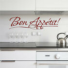 Bon Appetit! Wall Quote Removable Kitchen Wall Sticker Lettering